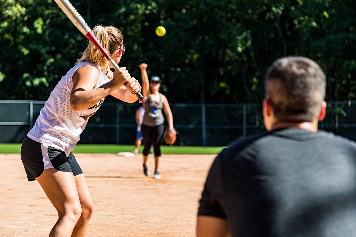 girl baseball player