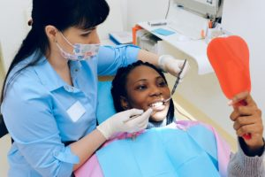 woman at dental clinic